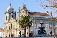 卡尔穆教会。波尔图。葡萄牙 库存照片