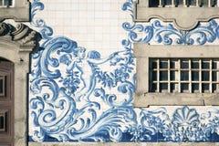 卡尔穆教会细节在波尔图 免版税库存照片