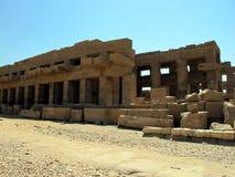 卡尔纳克寺庙在卢克索是古埃及的最大的寺庙复合体 免版税库存图片