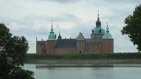 卡尔马,瑞典-卡尔马城堡看法  股票录像