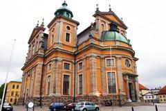 卡尔马,瑞典-这个大教堂 图库摄影