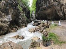 卡巴尔达-巴尔卡里亚的切格姆峡谷在北高加索,俄罗斯 图库摄影