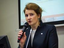 卡巴斯基杀毒软件和InfoWatch CEO Natalya卡巴斯基的共同创立者 库存照片