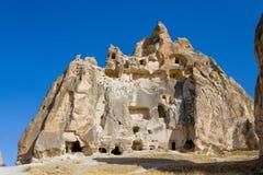卡帕多细亚洞堡垒,土耳其 库存图片