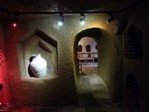 卡帕多细亚的酒房子 库存照片