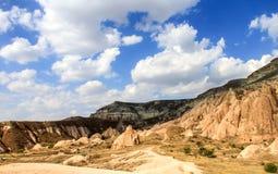 卡帕多细亚风景,土耳其 免版税库存照片