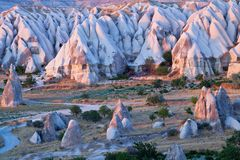 卡帕多细亚,土耳其 免版税图库摄影