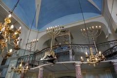 卡庞特拉,法国犹太教堂  库存图片