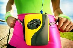 卡式磁带播放机便携式 免版税库存照片