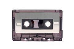 卡式磁带紧凑灰色查出的透明 免版税库存照片