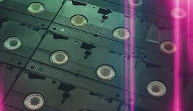 卡式磁带老录影 图库摄影