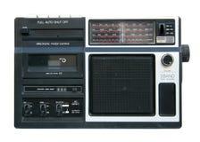 卡式磁带老球员手提电话机 库存照片