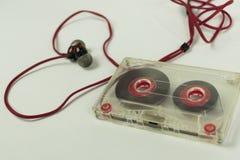 卡式磁带耳机心脏 免版税库存图片