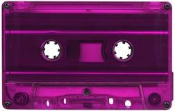 卡式磁带色的紫红色磁带 免版税库存照片