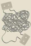 卡式磁带被混杂的磁带 库存例证