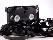 卡式磁带解开了录影 免版税库存照片