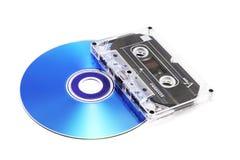 卡式磁带CD的磁带 库存照片