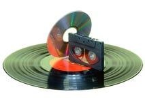 卡式磁带cd记录 库存照片