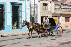 卡德纳斯,古巴- 2015年11月26日:马支架 免版税库存照片