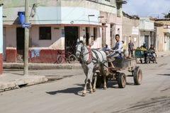 卡德纳斯,古巴- 2015年11月26日:马支架 免版税库存图片