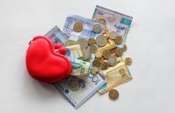 卡扎克斯坦货币 免版税库存图片