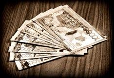 卡扎克斯坦货币 免版税图库摄影