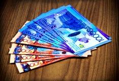 卡扎克斯坦货币 库存照片