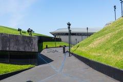 卡托维兹,波兰- 2018年5月05日:绿色段落acr的片段 免版税库存照片