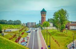 卡托维兹-城市街道看法  免版税库存图片