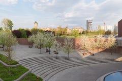 卡托维兹/市中心的下午视图 免版税图库摄影