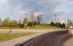 卡托维兹/市中心的下午视图 免版税库存图片