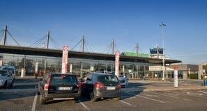 卡托维兹机场- exterier终端A 免版税库存照片