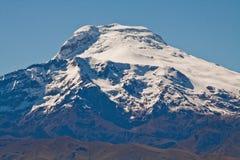 卡扬贝火山火山,厄瓜多尔激动人心的景色  免版税库存照片