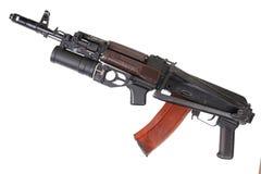 卡拉什尼科夫与GP-25枪榴弹发射器的AK 74 图库摄影