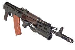 卡拉什尼科夫与GP25枪榴弹发射器的AK 74 免版税库存照片