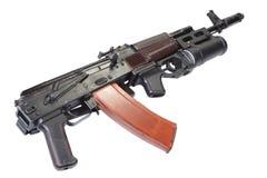卡拉什尼科夫与GP-25枪榴弹发射器的AK 74 免版税库存图片