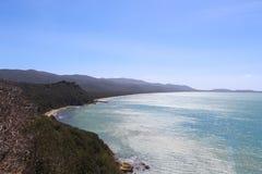 卡拉市Civette,托斯卡纳,意大利海岸  免版税库存图片