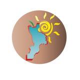 卡拉布里亚标志 免版税库存照片