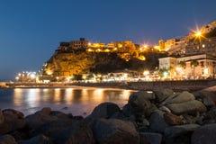 卡拉布里亚- Pizzo的多数有吸引力的镇 免版税库存图片