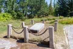 卡拉科尔,伊塞克湖,吉尔吉斯斯坦- 2016年8月12日:t坟墓  库存图片