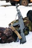 卡拉什尼科夫攻击步枪AK-74 库存照片