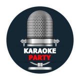 卡拉OK演唱党横幅 免版税库存照片