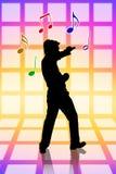 卡拉OK演唱大声的当事人唱歌 免版税库存图片