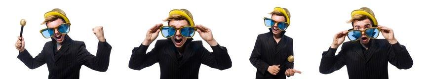 卡拉OK演唱概念的唱歌的人 库存照片