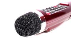 卡拉OK演唱话筒 免版税库存图片