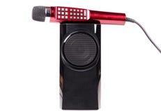 卡拉OK演唱话筒 免版税图库摄影