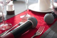 卡拉OK演唱餐馆 库存照片