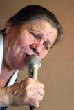 卡拉OK演唱 免版税库存图片
