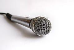 卡拉OK演唱mic 免版税库存照片