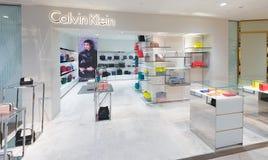 卡文・克莱商店在Suria KLCC,马来西亚 图库摄影